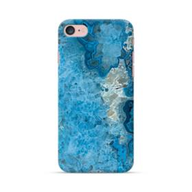 Peacock Blue Marble iPhone 7 Case