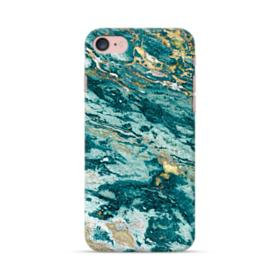 Turquoise and Gold Marble iPhone 7 Case