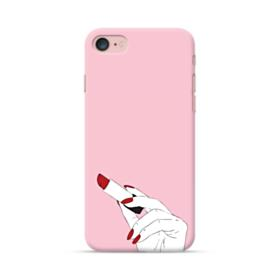Lipstick and Red Nails iPhone 7 Case