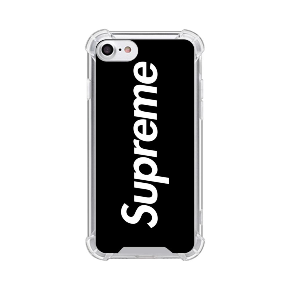 Supreme Black Cover Iphone 7 Clear Case
