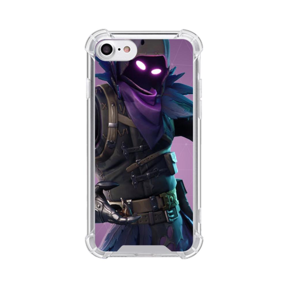 fortnite raven outfits iphone 7 clear case - fortnite clear cache