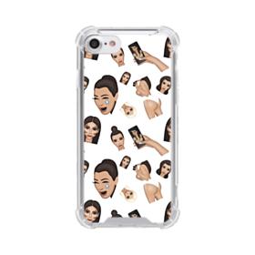 Kim Kardashian Emoji Kimoji seamless iPhone 7 Clear Case