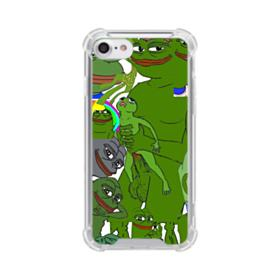 Rare pepe the frog seamless iPhone 7 Clear Case