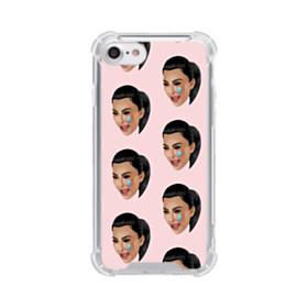 Crying Kim emoji kimoji seamless iPhone 7 Clear Case
