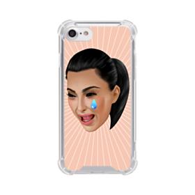 Crying Kim emoji kimoji iPhone 7 Clear Case
