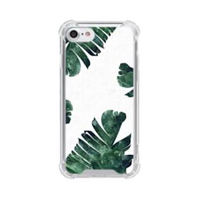 Green Palm Leaves iPhone 7 Clear Case