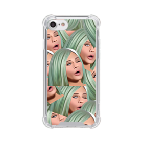 Kylie Jenner funny emoji kimoji iPhone 7 Clear Case