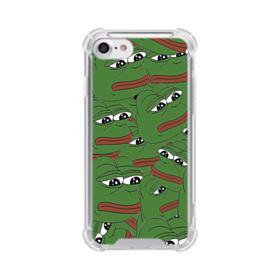 Sad Pepe frog seamless iPhone 7 Clear Case