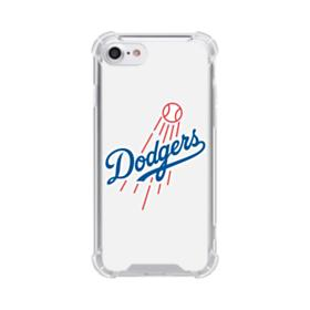 Los Angeles Dodgers Team Logo Flat iPhone 7 Clear Case