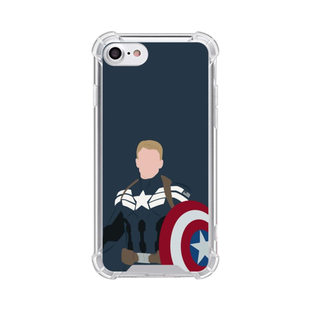 Captain America Comic iPhone 8 Clear Case