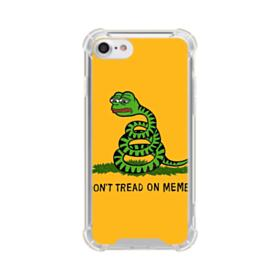 Pepe the frog don't tread on memes iPhone 8 Clear Case