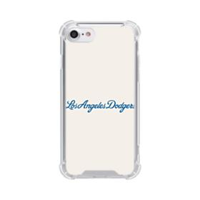 Los Angeles Dodgers Logo Scripts iPhone 8 Clear Case