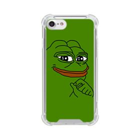 Smug Pepe Frog Funny Meme iPhone 8 Clear Case