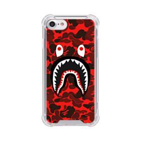 Bape Logo Red Camo iPhone 8 Clear Case