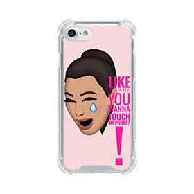 Crying Kim emoji kimoji meme  iPhone 8 Clear Case