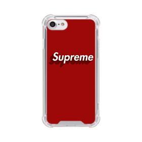 Supreme Red Cover iPhone 8 Clear Case