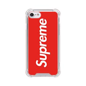 Red Supreme iPhone 8 Clear Case