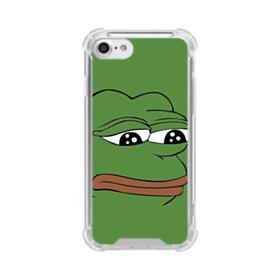 Sad Pepe frog iPhone 8 Clear Case