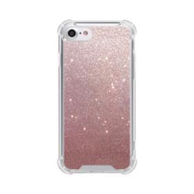 Rose Gold Glitter iPhone 8 Clear Case