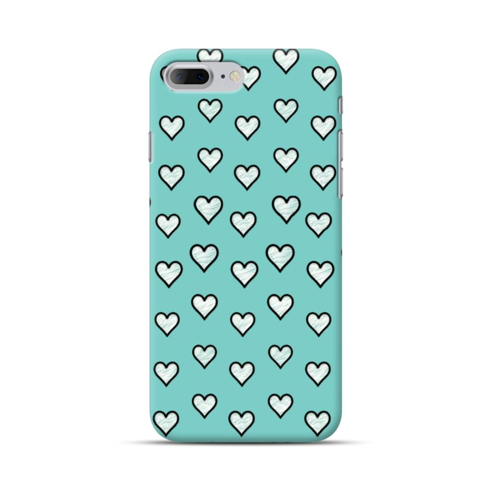 on sale ef6f6 dec95 Lovely Hearts in Tiffany Blue iPhone 7 Plus Case