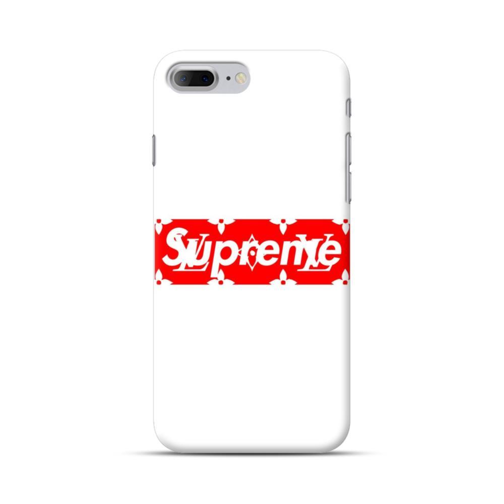 promo code c3cdd df88a Louis Vuitton Monogram x Supreme Logo iPhone 7 Plus Case