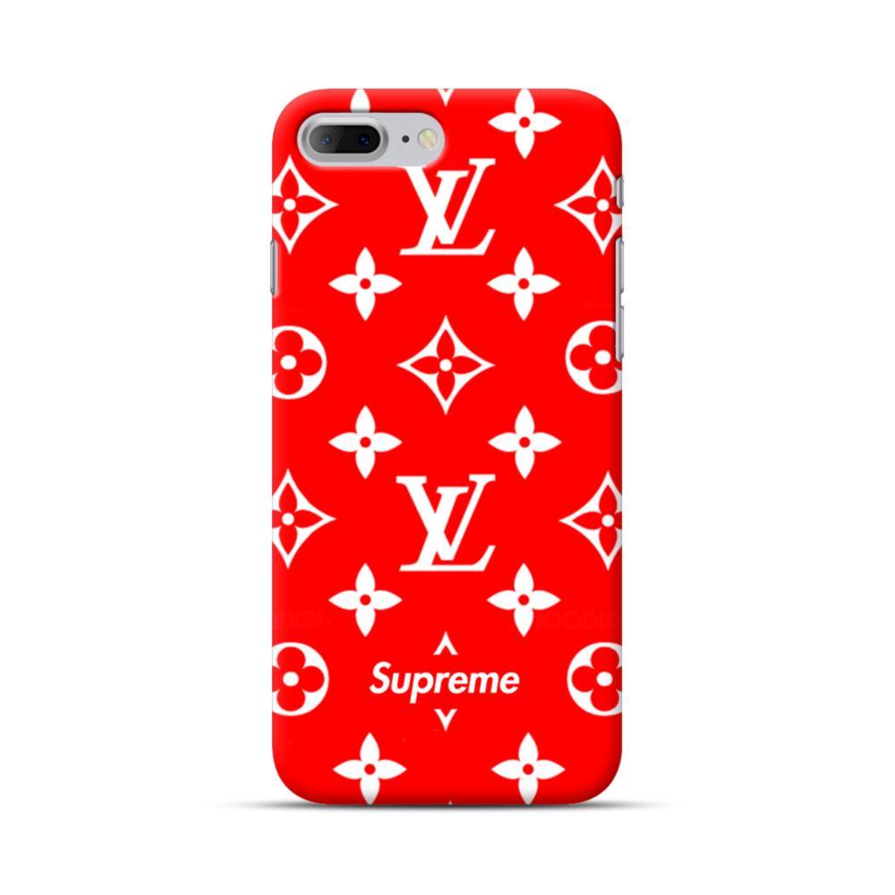 4fbf97c028b Classic Red Louis Vuitton Monogram x Supreme Logo iPhone 7 Plus Case