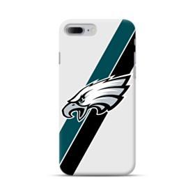 Philadelphia Eagles Team Logo Diagonal Stripes iPhone 7 Plus Case