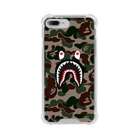 Bape shark camo print iPhone 7 Plus Clear Case