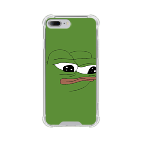 Sad Pepe frog iPhone 7 Plus Clear Case