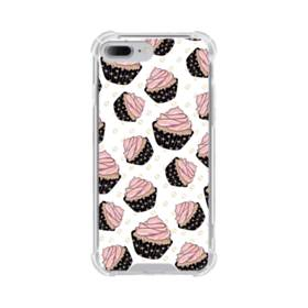 Pink Cup Cakes iPhone 7 Plus Clear Case