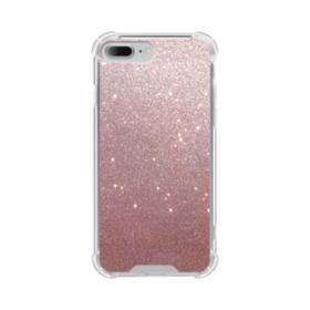 Rose Gold Glitter iPhone 7 Plus Clear Case