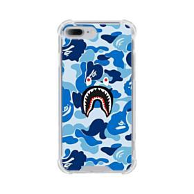 Bape Shark Blue Camo iPhone 7 Plus Clear Case