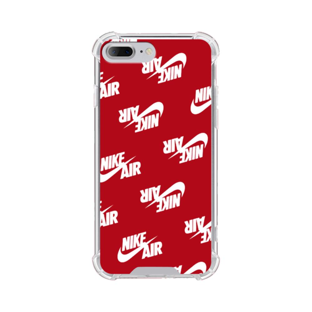 quality design f6488 573ef Nike Air Red iPhone 8 Plus Clear Case