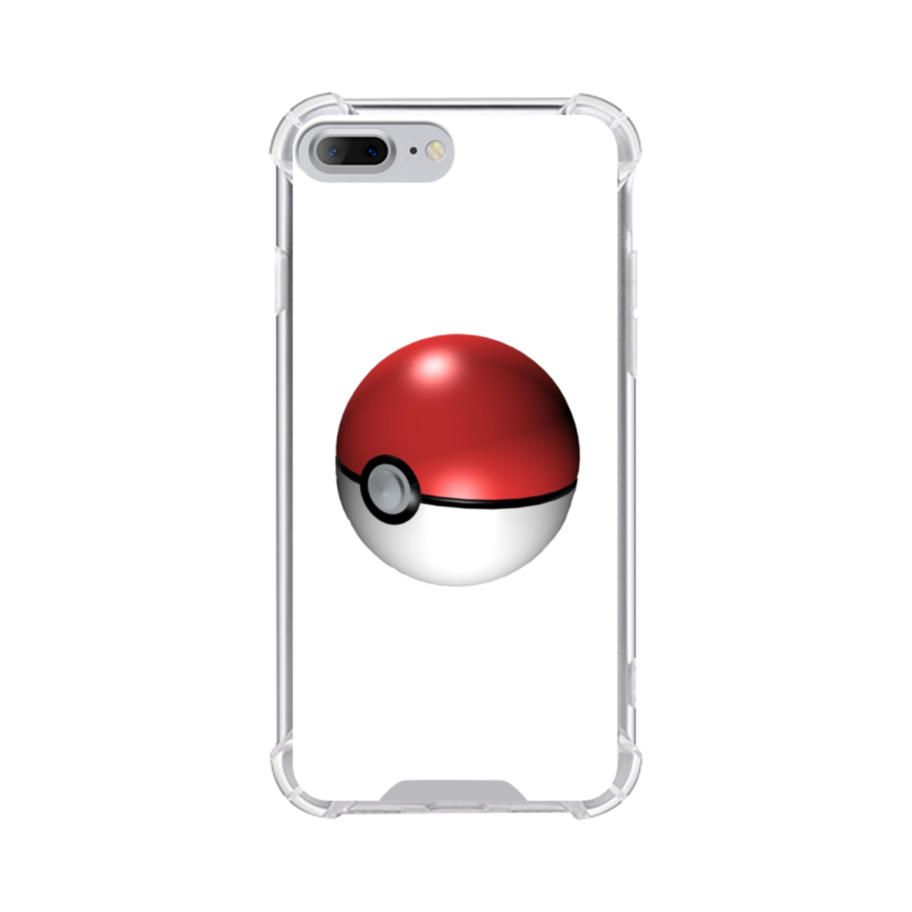 timeless design cf3f3 b85f5 Pokemon Go Ball iPhone 8 Plus Clear Case