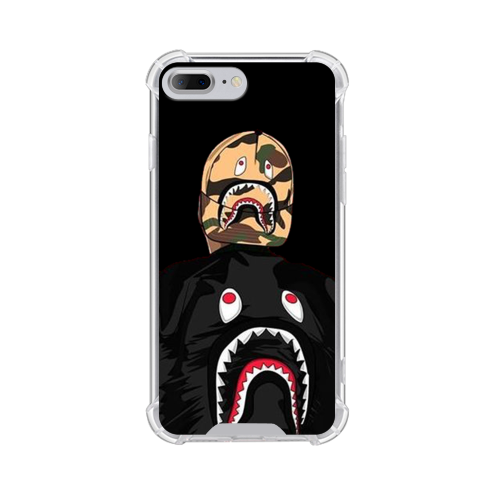 competitive price 1bbb1 a4551 Boy Wearing Shark Jacket iPhone 8 Plus Clear Case