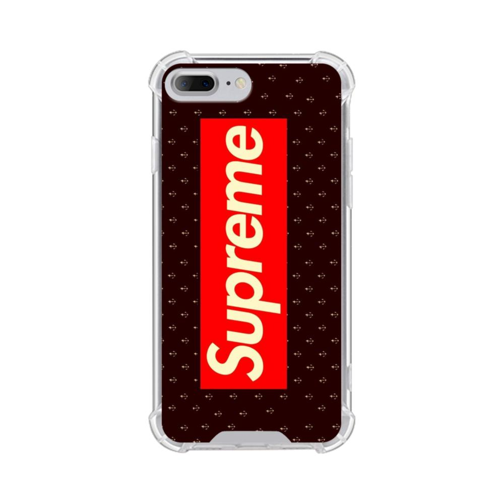 Vintage Supreme Logo with Small Anchors iPhone 8 Plus Clear Case