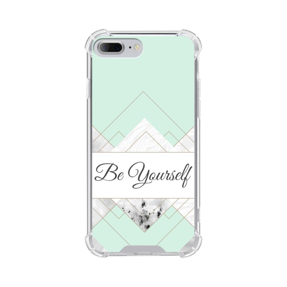 new arrival 9114f 98152 Be Yourself Tiffany Blue Marble iPhone 8 Plus Clear Case