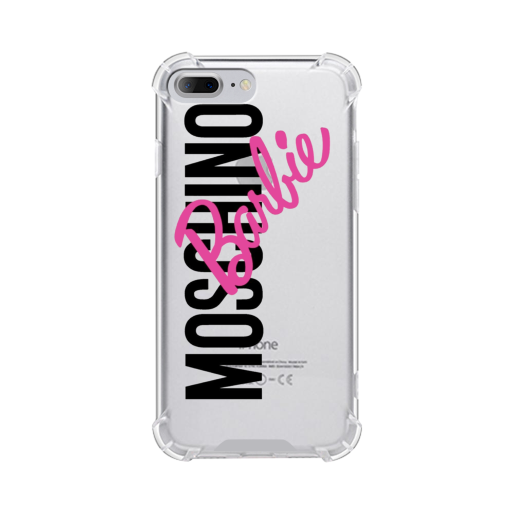premium selection e268b fd739 Moschino X Barbie iPhone 8 Plus Clear Case