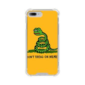 Pepe the frog don't tread on memes iPhone 8 Plus Clear Case