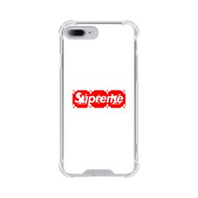 Supreme White Cover iPhone 8 Plus Clear Case