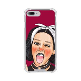 Lovely Collar Girl with White Head Scarf iPhone 8 Plus Clear Case
