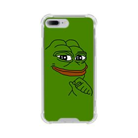 Smug Pepe Frog Funny Meme iPhone 8 Plus Clear Case