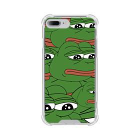 Sad Pepe frog seamless iPhone 8 Plus Clear Case