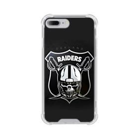 Oakland Raiders Team Logo Crest Shield iPhone 8 Plus Clear Case