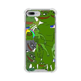 Rare pepe the frog seamless iPhone 8 Plus Clear Case
