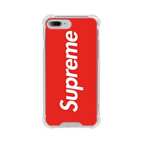 Red Supreme iPhone 8 Plus Clear Case