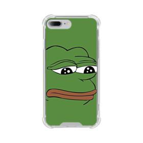 Sad Pepe frog iPhone 8 Plus Clear Case