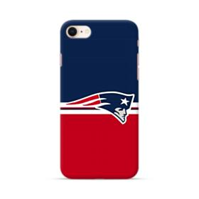 New England Patriots Team Logo Red Blue Banner iPhone 8 Case