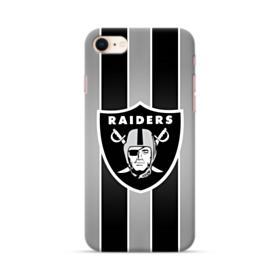 Oakland Raiders Team Logo Vertical Stripes iPhone 8 Case