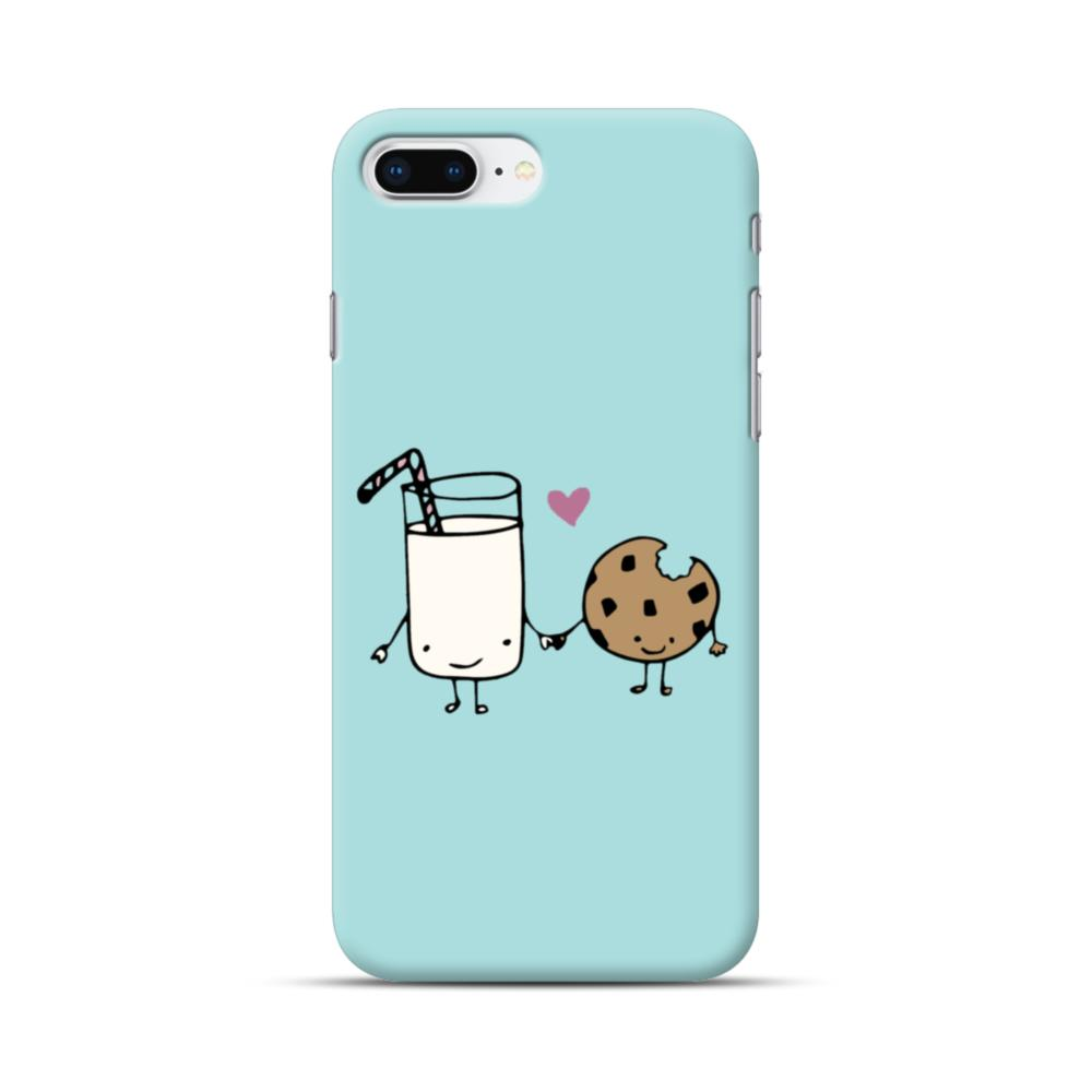 separation shoes ff0bc 8c30a Tiffany Blue Cute Kawaii Milk And Cookie iPhone 8 Plus Case